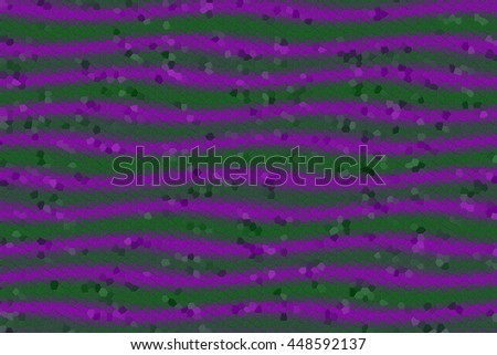 Illustration of purple and dark green mosaic waves