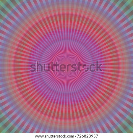 Illustration of Radial Round Rainbow Background, abstract