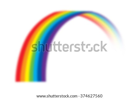 illustration of rainbow on white - stock photo