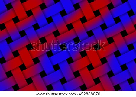 Illustration of red and dark blue weaved pattern - stock photo