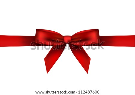 illustration of red bow - stock photo