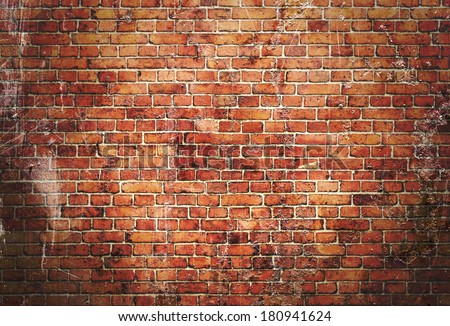 illustration of red brick wall - stock photo
