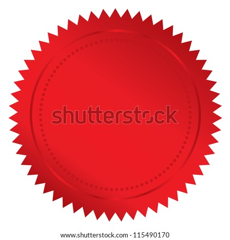 illustration of red seal - stock photo