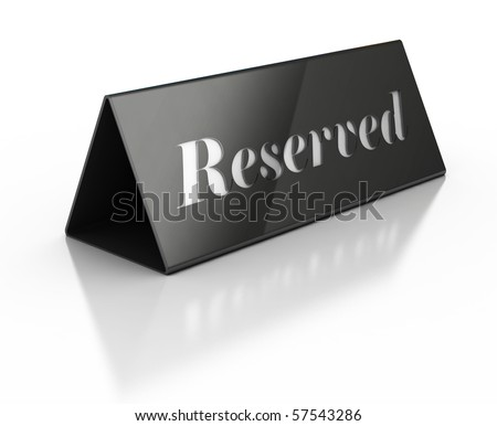 Illustration of reservation sign - stock photo