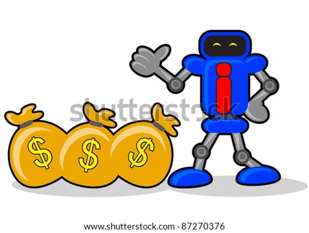 illustration of robotic businessman