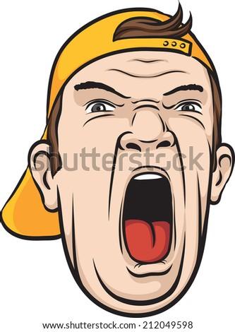 foolish cartoon face vector illustration stock vector 305119094
