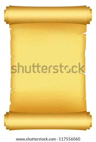 illustration of scroll - stock photo