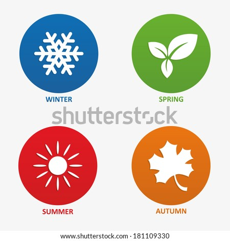 illustration of seasons - stock photo