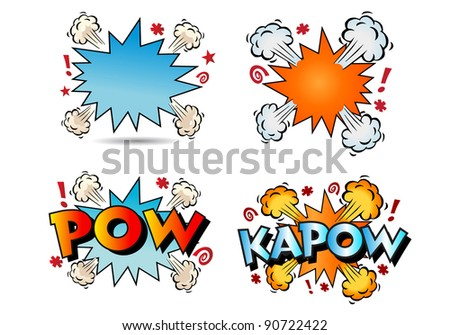 illustration of several thump comic book texts - stock photo