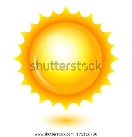 Illustration of shiny sun