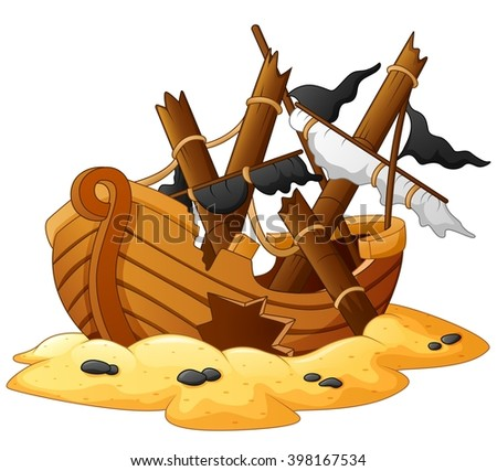 Cartoon Shipwreck Stock Images, Royalty-Free Images & Vectors ...