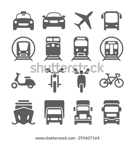 Stock Photo Illustration Of Simple Monochromatic Vehicle And Transport Related Icons For Your Design Or on 2001 Dodge Dakota Neutral Safety Switch