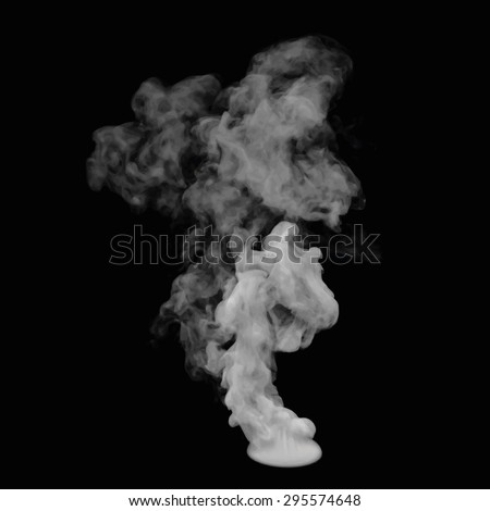 Illustration of smoke on black. Use it as an element of background in your design. - stock photo