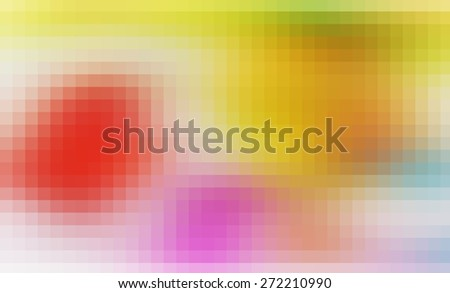 illustration of soft colored abstract background with beautiful square pattern texture mosaic filter  - stock photo