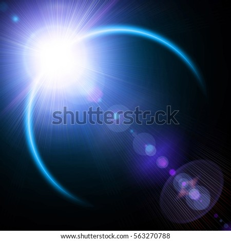 illustration of solar eclipse