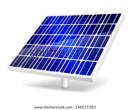 Illustration of Solar Panel icon.