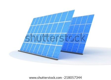 Illustration of Solar panels isolated on white