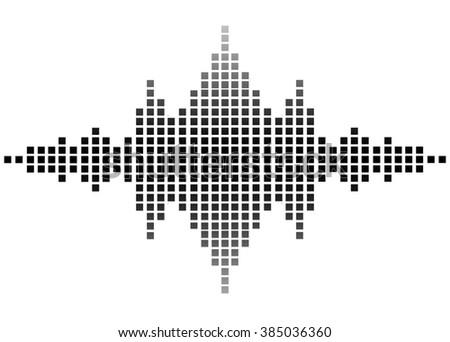 illustration of sound wave - stock photo