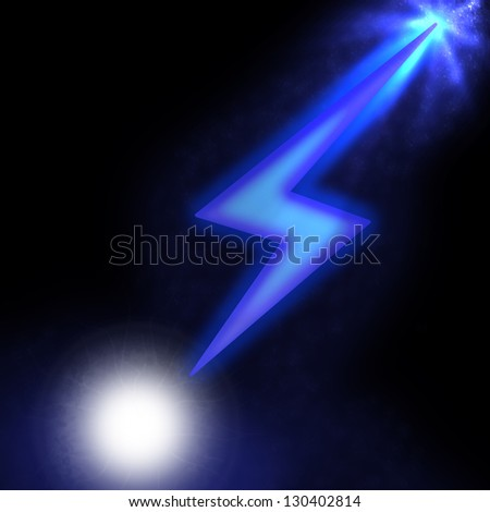 illustration of sparkling lightning bolt with electric effect - stock photo