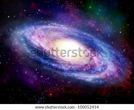 Illustration of Spiral Galaxy - stock photo