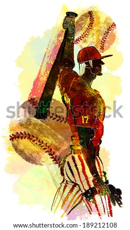 Illustration of sports, baseball