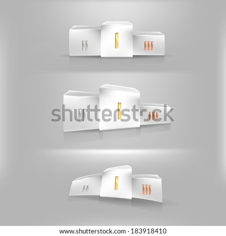 Illustration of sports pedestal - stock photo