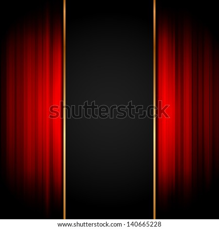 Illustration of stage - stock photo