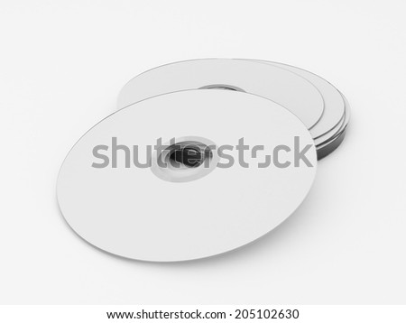 Illustration of Stationary elements isolated on white background - stock photo