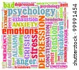 Illustration of Stress and Other Related Words - stock photo