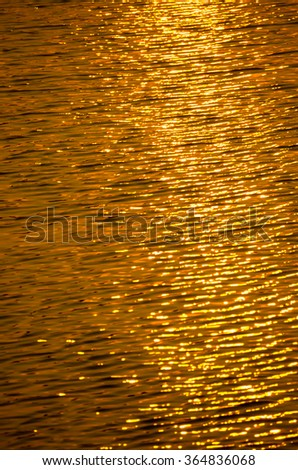Illustration  of  sun rays  on  water - stock photo