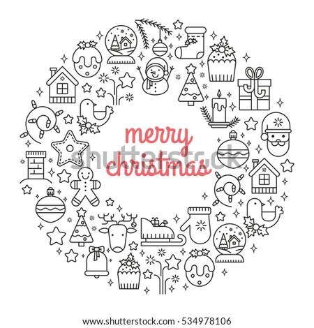 Illustration Symbols Christmas Items Icon Xmas Stock Illustration