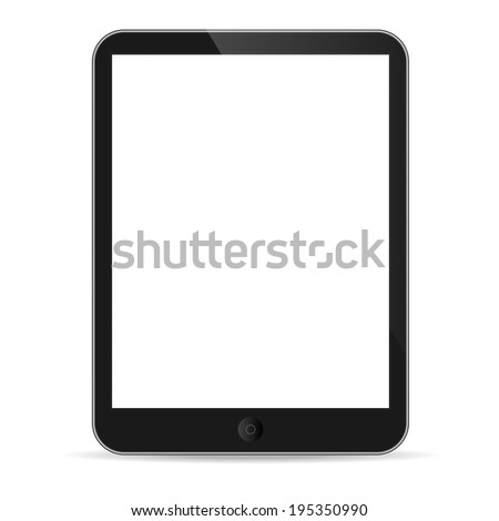 Illustration of tablet on white - stock photo