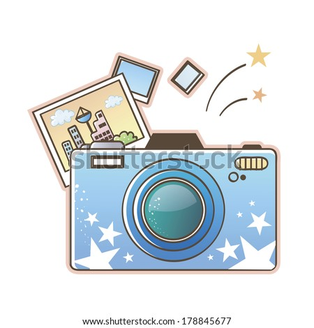 Illustration of taking pictures with camera