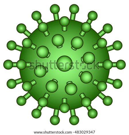 Illustration of the abstract virus icon