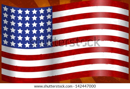 Illustration of the American flag - fourth of July concept