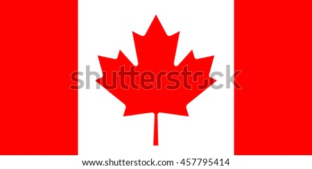 Illustration of the Canadian Flag - stock photo