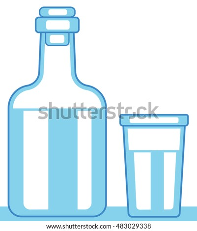 Illustration of the carafe and glass icon