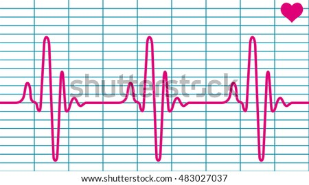 Illustration of the cardiogram and heart symbol