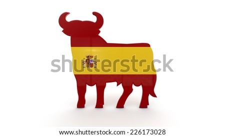 illustration of the concept of the Spanish flag - stock photo