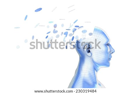 illustration of the concept of thought, psychology and ideas - stock photo