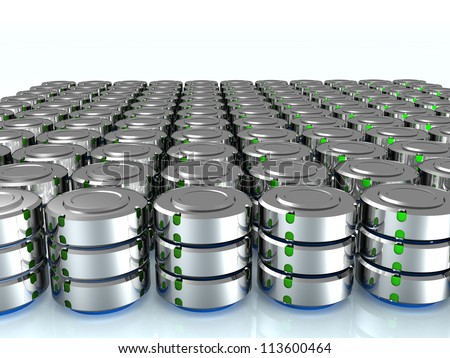 Illustration of the database on the mirror surface. ?1 - stock photo