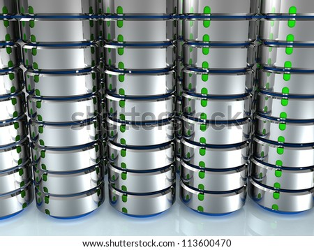 Illustration of the database on the mirror surface. ?6 - stock photo