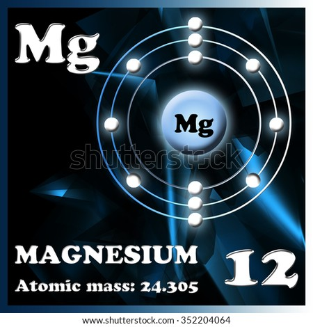 Illustration of the element magnesium - stock photo