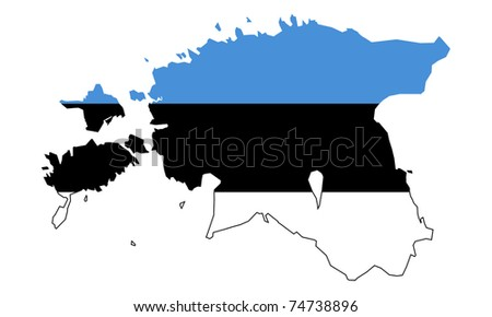 Illustration estonia flag on map country stock illustration 74738896 illustration of the estonia flag on map of country isolated on white background gumiabroncs Gallery