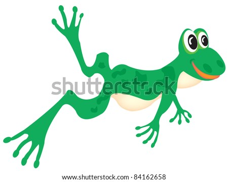 Illustration of the fairy-tale frog on white background