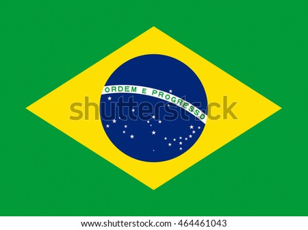 Illustration of the flag of Brazil