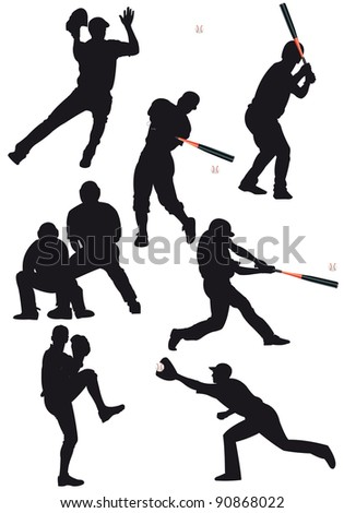 Illustration of the game of baseball - stock photo
