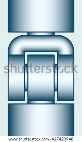 Illustration of the hinge joint icon - stock photo