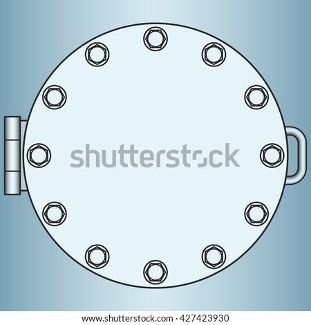Illustration of the manhole icon - stock photo