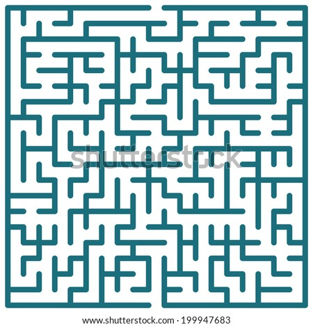 Illustration of the maze for leisure
